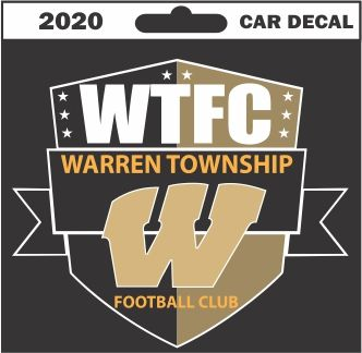 Warren Football Standard Decal